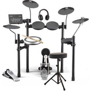 Yamaha DTX482 Electronic Drum Kit with Headphones Stool + Sticks at Gear 4 Music Image