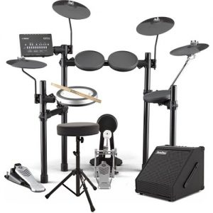Yamaha DTX482 Electronic Drum Kit with Sticks Stool + Amp at Gear 4 Music Image