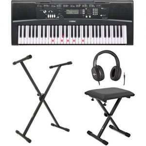 Yamaha EZ220 Key Lighting Keyboard with Stand Headphones and Bench at Gear 4 Music Image