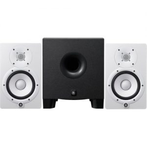 Yamaha HS7 Active Studio Monitors White with HS8 Powered Subwoofer at Gear 4 Music Image