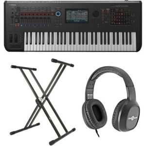 Yamaha MONTAGE 6 with Headphones and Stand at Gear 4 Music Image