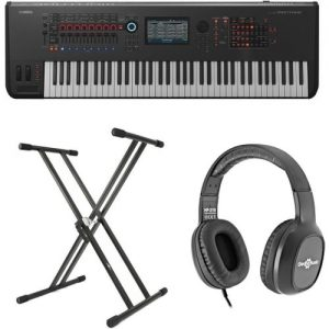Yamaha MONTAGE 7 with Headphones and Stand at Gear 4 Music Image