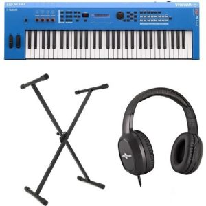 Yamaha MX61 II with Stand and Headphones Blue at Gear 4 Music Image
