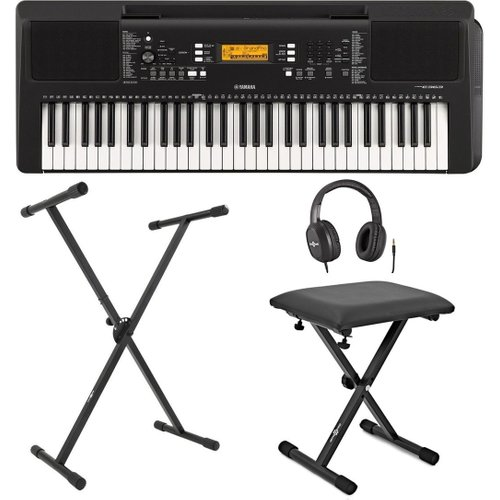 Yamaha PSR E363 Portable Keyboard with Stand Bench and Headphones at Gear 4 Music Image