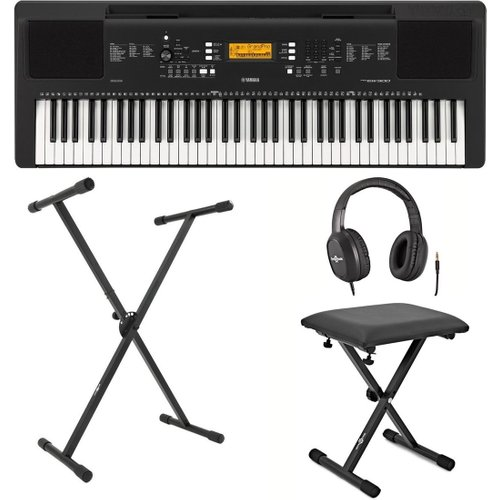 Yamaha PSR EW300 Portable Keyboard with Stand Bench and Headphones at Gear 4 Music Image
