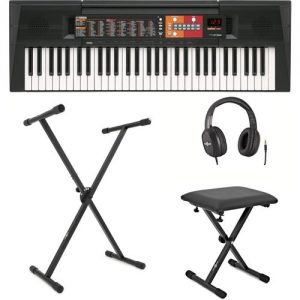 Yamaha PSR F51 Portable Keyboard X Frame Package at Gear 4 Music Image