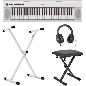 Yamaha Piaggero NP12 Portable Digital Piano White inc. Accessories at Gear 4 Music Image