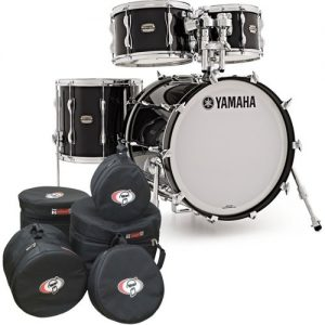 Yamaha Recording Custom 4 Piece Shell Pack Solid Black w/Bag Set at Gear 4 Music Image