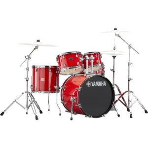 "Yamaha Rydeen 22"" Drum Kit w/ Hardware Hot Red at Gear 4 Music Image"