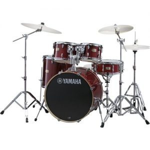 "Yamaha Stage Custom 20"" 5 Piece Shell Pack w/ Hardware Cranberry Red at Gear 4 Music Image"