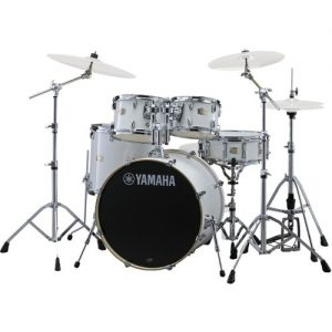 "Yamaha Stage Custom 20"" 5 Piece Shell Pack w/ Hardware Pure White at Gear 4 Music Image"