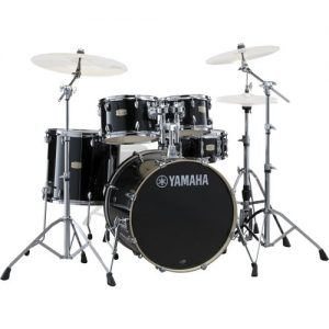 "Yamaha Stage Custom 20"" 5 Piece Shell Pack w/ Hardware Raven Black at Gear 4 Music Image"