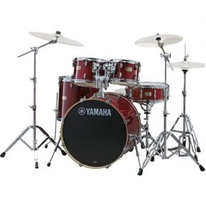 "Yamaha Stage Custom 22"" 5 Piece Shell Pack w/ Hardware Cranberry Red at Gear 4 Music Image"