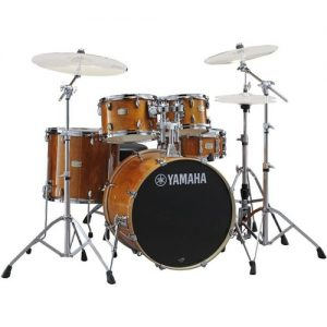 "Yamaha Stage Custom 22"" 5 Piece Shell Pack w/ Hardware Honey Amber at Gear 4 Music Image"