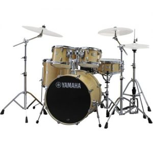 "Yamaha Stage Custom 22"" 5 Piece Shell Pack w/ Hardware Natural Wood at Gear 4 Music Image"