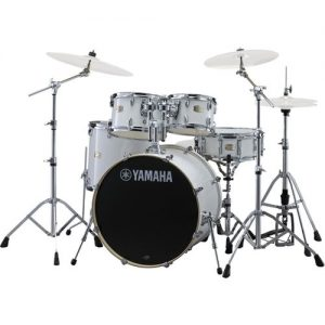 "Yamaha Stage Custom 22"" 5 Piece Shell Pack w/ Hardware Pure White at Gear 4 Music Image"