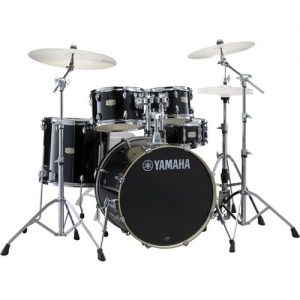 Yamaha Stage Custom 22 5 Piece Shell Pack w/ Hardware Raven Black at Gear 4 Music Image
