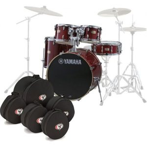 Yamaha Stage Custom Birch 20 5pc Shell Pack w/Bags Cranberry Red at Gear 4 Music Image