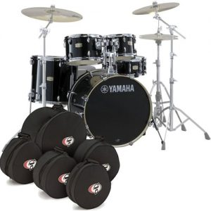 Yamaha Stage Custom Birch 20 5pc Shell Pack w/Bags Raven Black at Gear 4 Music Image