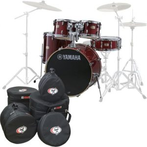 Yamaha Stage Custom Birch 22 5pc Shell Pack w/Bags Cranberry Red at Gear 4 Music Image