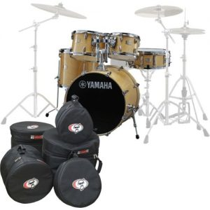 Yamaha Stage Custom Birch 22 5pc Shell Pack w/Bags Natural Wood at Gear 4 Music Image