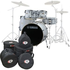 Yamaha Stage Custom Birch 22 5pc Shell Pack w/Bags Pure White at Gear 4 Music Image