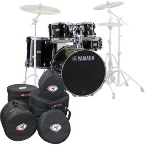 Yamaha Stage Custom Birch 22 5pc Shell Pack w/Bags Raven Black at Gear 4 Music Image