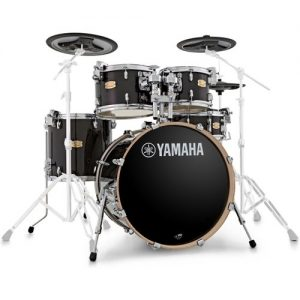 Yamaha Stage Custom Shell Pack with DTX Hybrid Pack Raven Black at Gear 4 Music Image