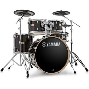 Yamaha Stage Custom with DTX Hybrid Pack and Hardware Raven Black at Gear 4 Music Image