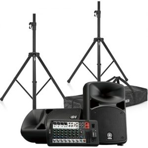 Yamaha Stagepas 600BT Portable PA System with Speaker Stands at Gear 4 Music Image