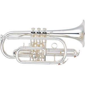 Yamaha YCR6330 Professional Cornet with Silver Plated Finish at Gear 4 Music Image