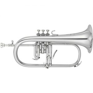 Yamaha YFH-8310ZGS Custom Model Bb Flugel Horn Silver-Plated at Gear 4 Music Image