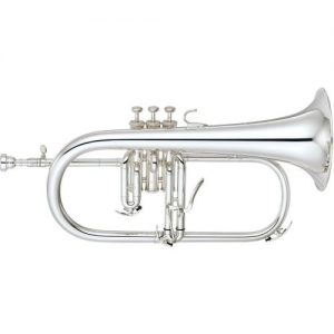 Yamaha YFH-8310ZS Custom Model Bb Flugel Horn Silver Plated at Gear 4 Music Image