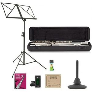 Yamaha YFL212 Student Model Flute Package Sterling Silver Lip Plate at Gear 4 Music Image