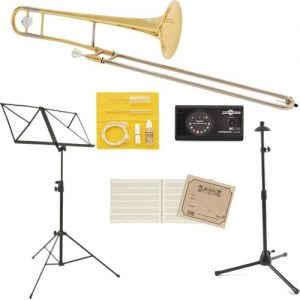 Yamaha YSL354 Student Trombone Beginners Pack at Gear 4 Music Image