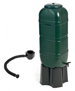 100L Slimline Garden Water Butt Set Including Tap and Stand