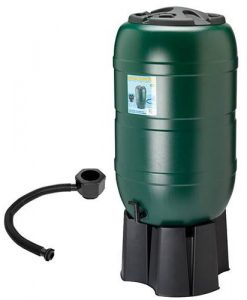 210L Garden Round Plastic Water Butt Set Including Tap and Stand