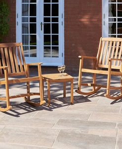 3pce Kingswood Rocking Chair Set in Natural