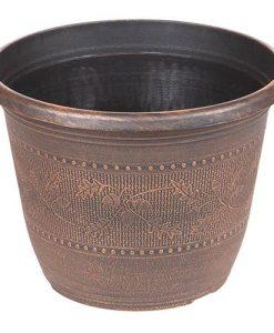 Acorn Round Planter25cm (10in) Copper-Tone