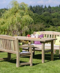 Emily Table and 2 Bench Set