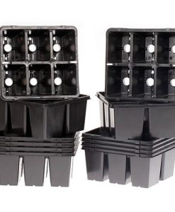 Pack of 12 unique 6-hole vented pricking out Trays