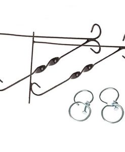 "Pair of 12"" Hanging basket Brackets with Swivel Hooks"